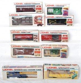 10 Lionel Freight Cars 9351, 9039, 9403, 9348, Etc
