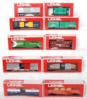 10 Lionel Freight Cars 9162, 9714, 9708, 9068, Etc