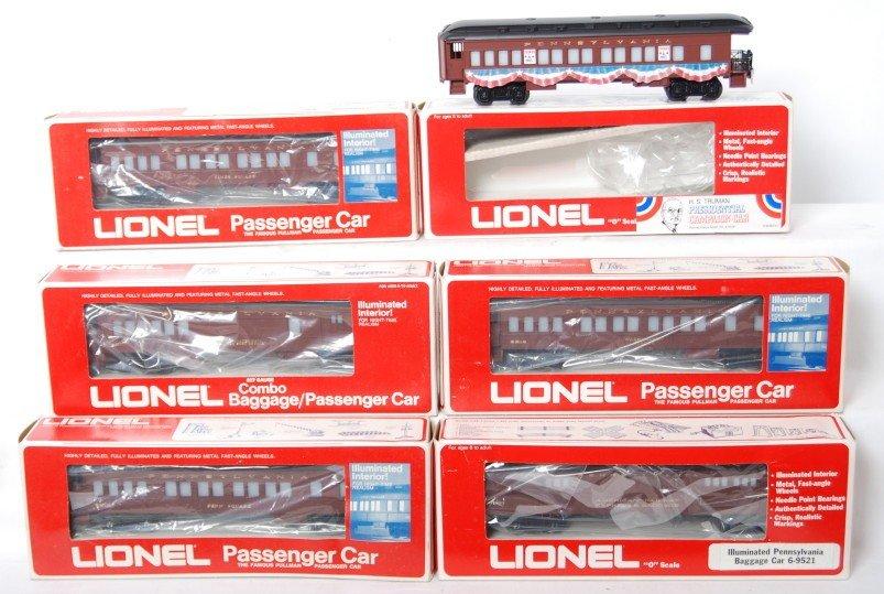 178: 6 Lionel Pennsylvania pass cars 9528, 9521, 9510,