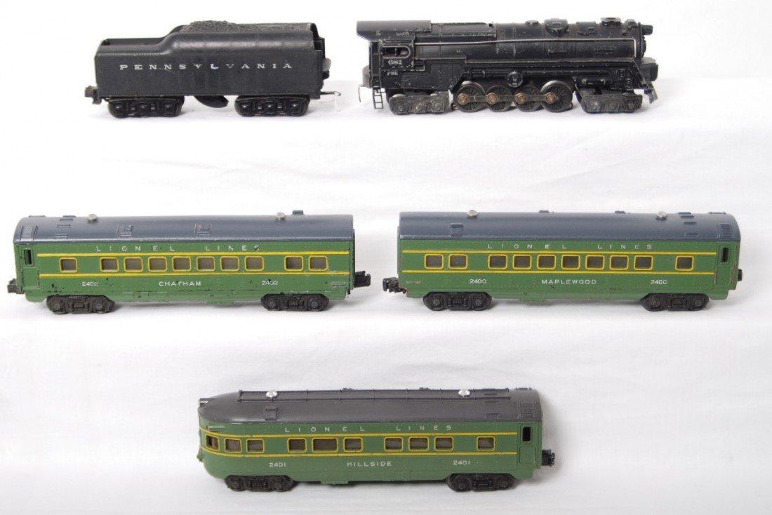 185: Lionel 681, 2471W PRR tender, 2400, 2401, 2402