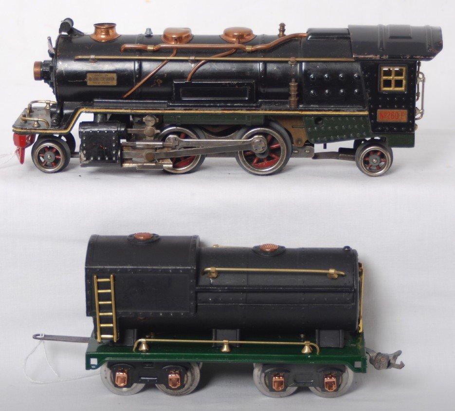 186: Lionel 260-E steam loco with Vanderbilt oil tank t