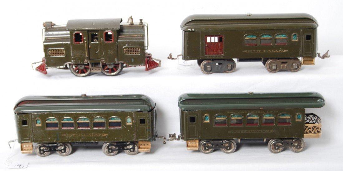 188: Lionel 33 loco, 31, 35, 36 prewar passenger train
