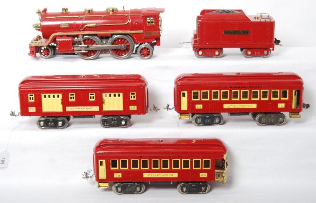 189: Lionel 390-E loco and tender w/332, 337, 338