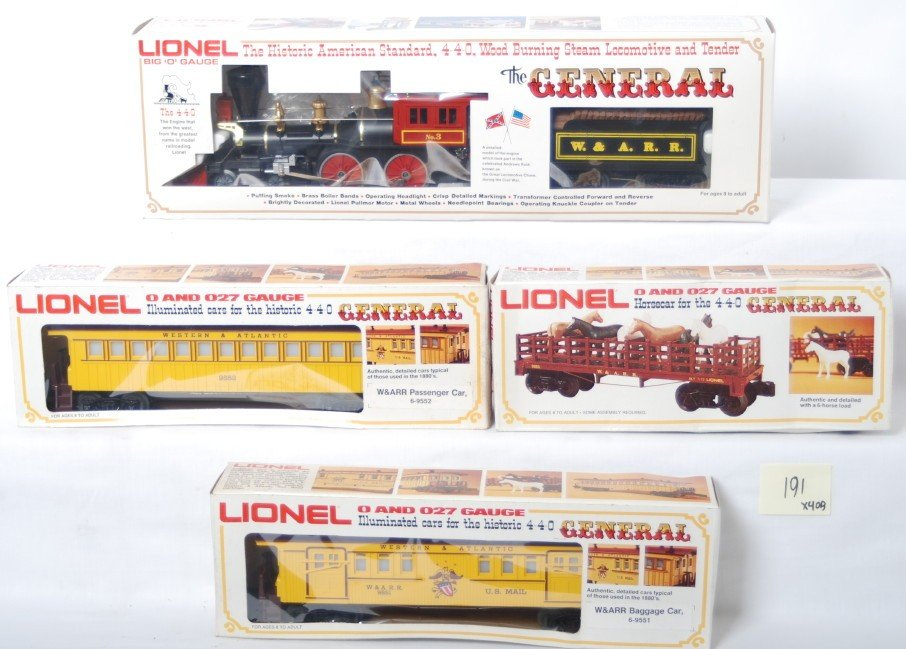 191: Lionel The General Set 8701 9551 9552 9553