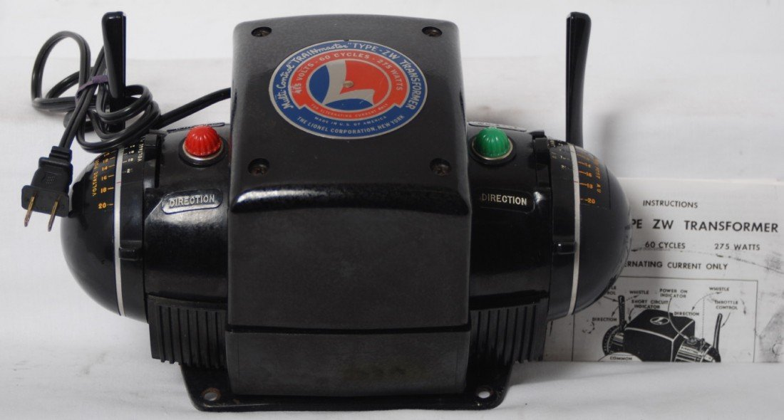 224: Lionel type ZW 275 watts transformer w/cord