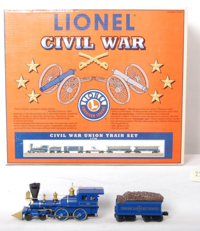 274: Lionel 21900 Union Civil War Train Set