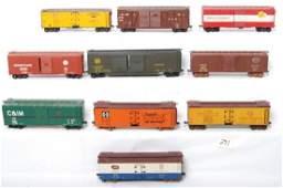 291 10 O scale freight cars BAR NYC ATSF etc