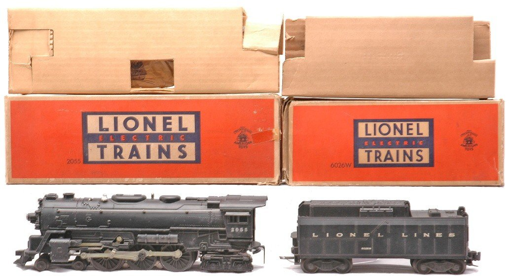 1: Lionel 2055 Steam Loco 6026W Tender LN OBs