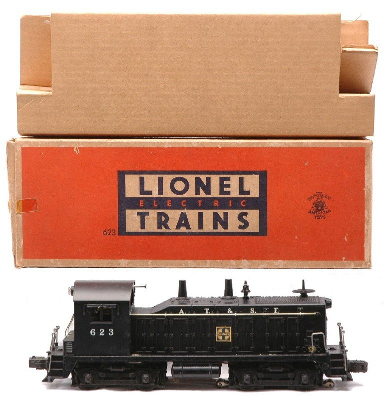 3: Lionel 623 AT&SF Diesel Switcher LIKE NEW OB