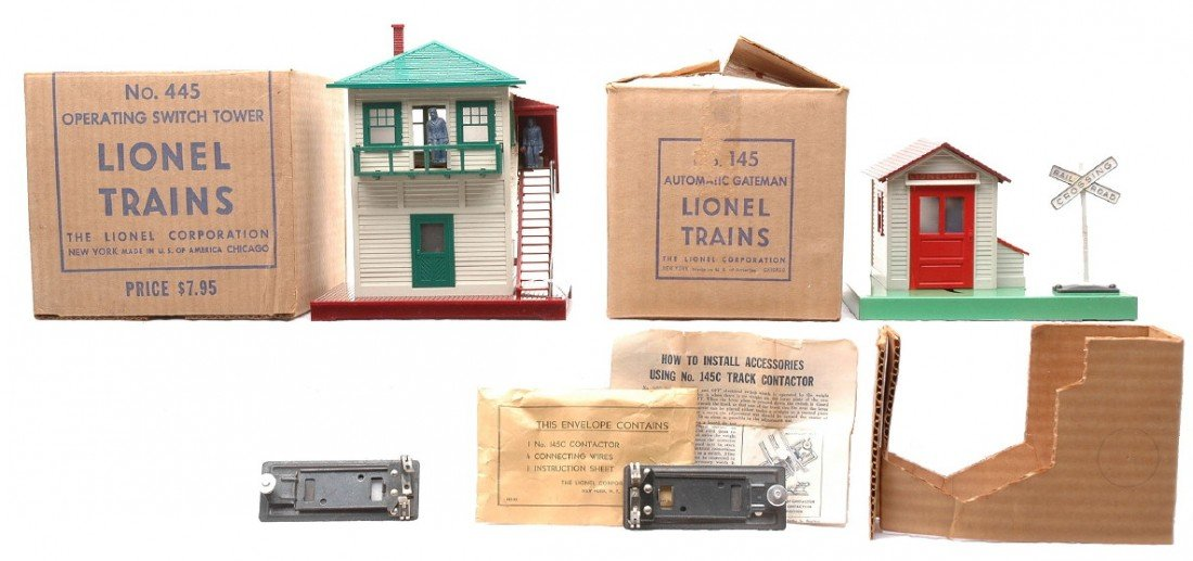 4: Lionel 145 Gateman 455 Switch Tower Boxed