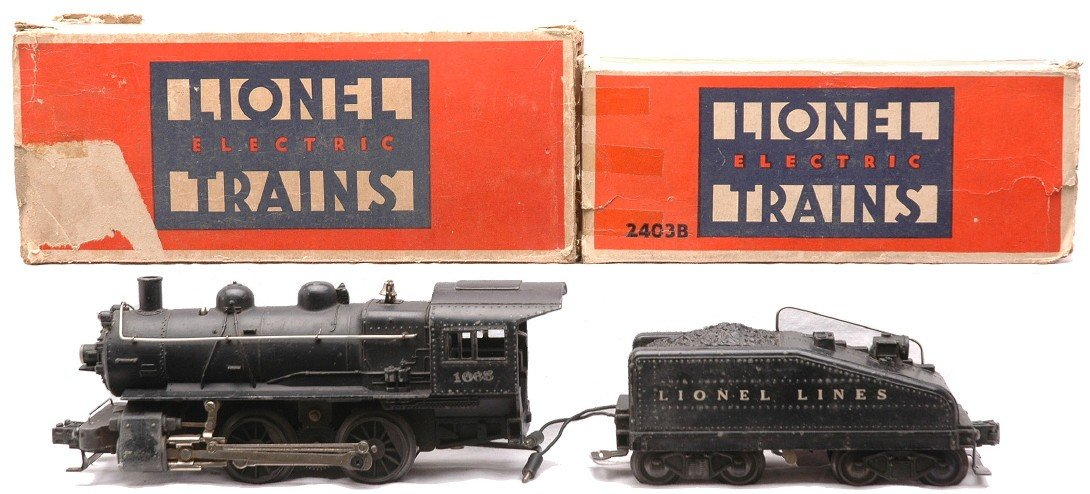14: Lionel 1665 Loco 2403B Slope Back Tender OBs.