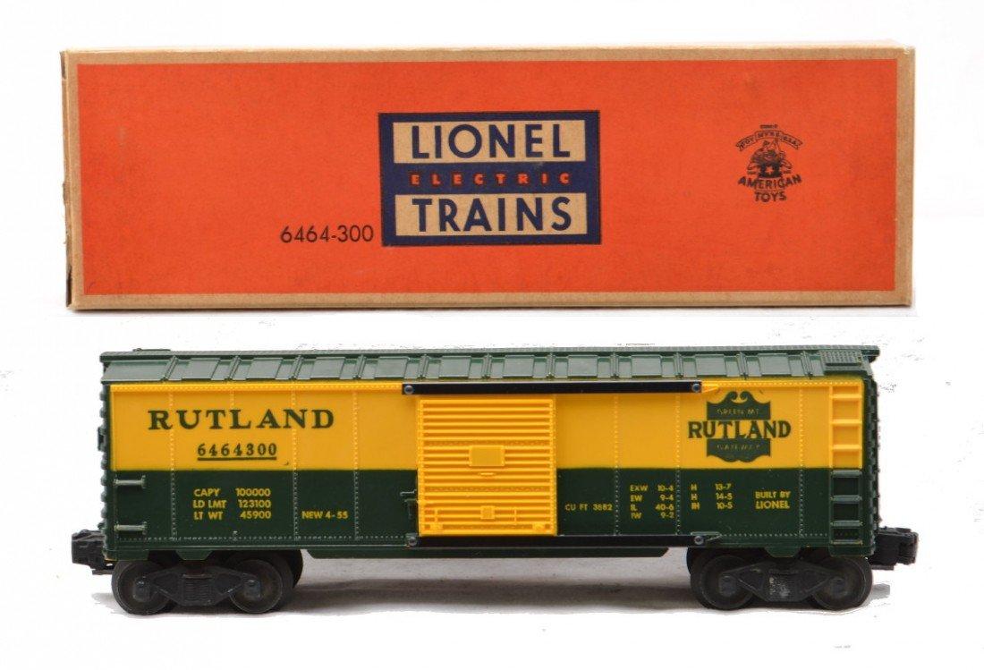 218: Lionel 6464-300 Rutland Boxcar w/Solid Shield MIB