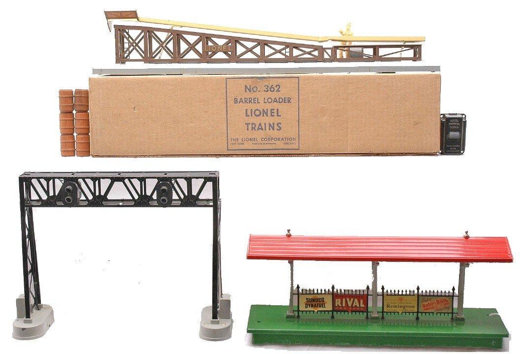 222: Lionel 362 Loader OB 450 Bridge 156 Platform