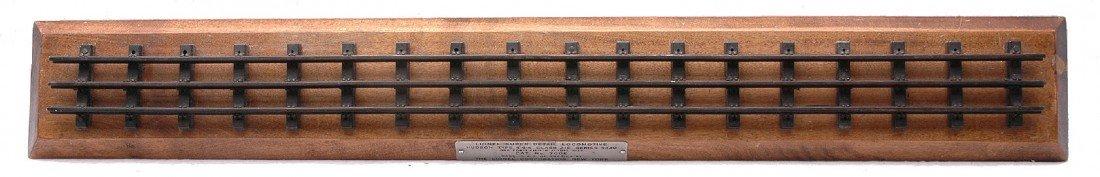 228: Lionel 700E Wooden Display Board w/Plaque