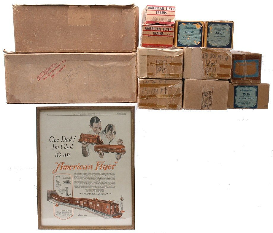 236: Am Flyer Selection of Original Boxes ONLY