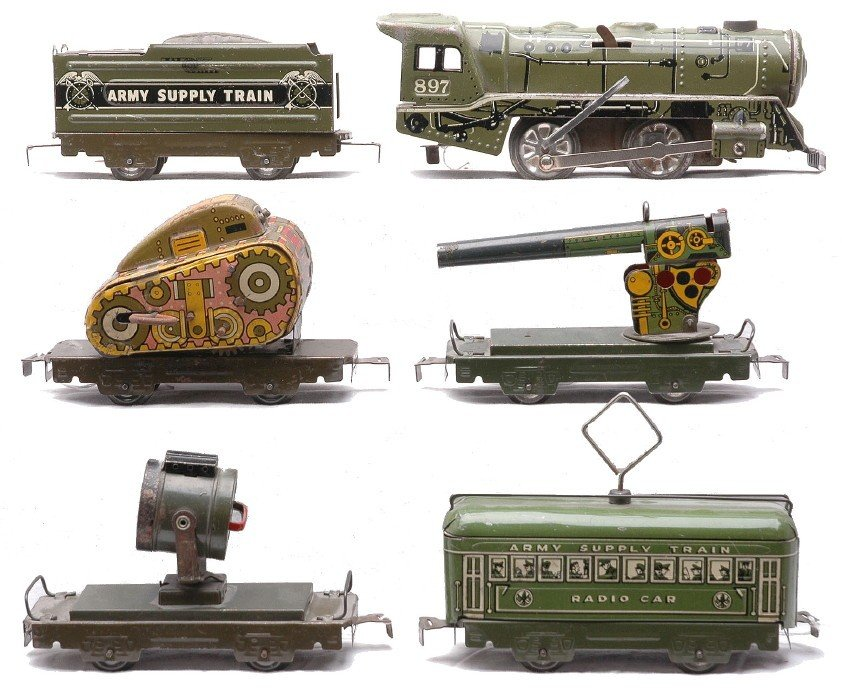 251: Marx Olive Litho Military Supply Train no. 1526