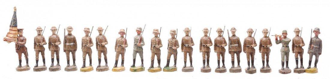 343: Elastolin German Military Composition Figures