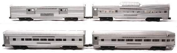 369: Lionel Aluminum Pass Cars 2530 2533 2532 2531