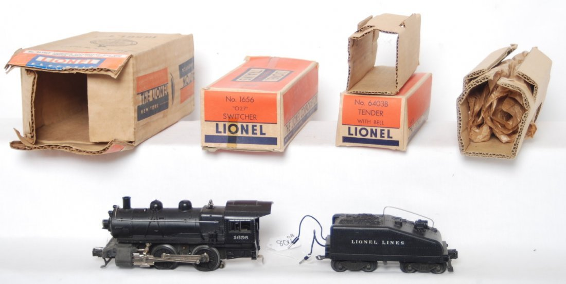 804: Lionel 1656LT, 1656 loco, 6403B, boxes, inserts, m