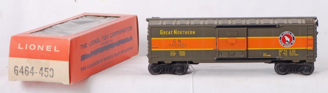 810: Lionel 6464-450 Great Northern boxcar in OB