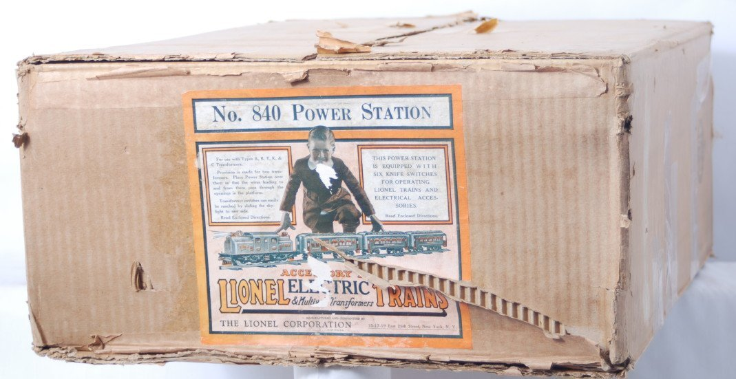 812: Lionel 840 Power Station original box with inserts
