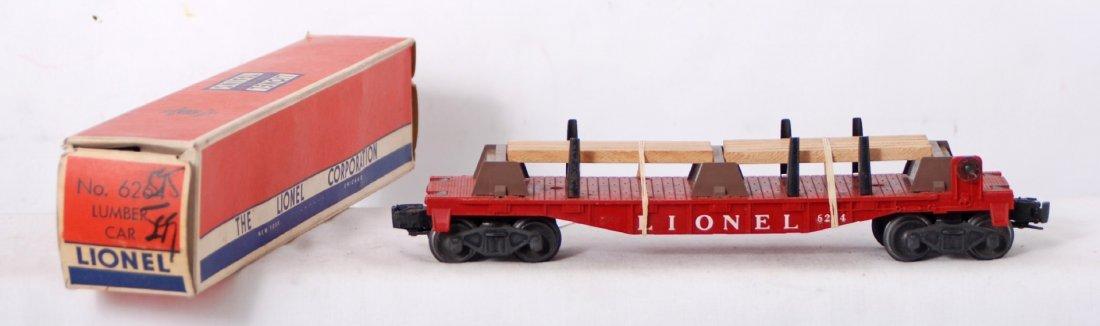820: Lionel 6264 lumber car in separate sale OB