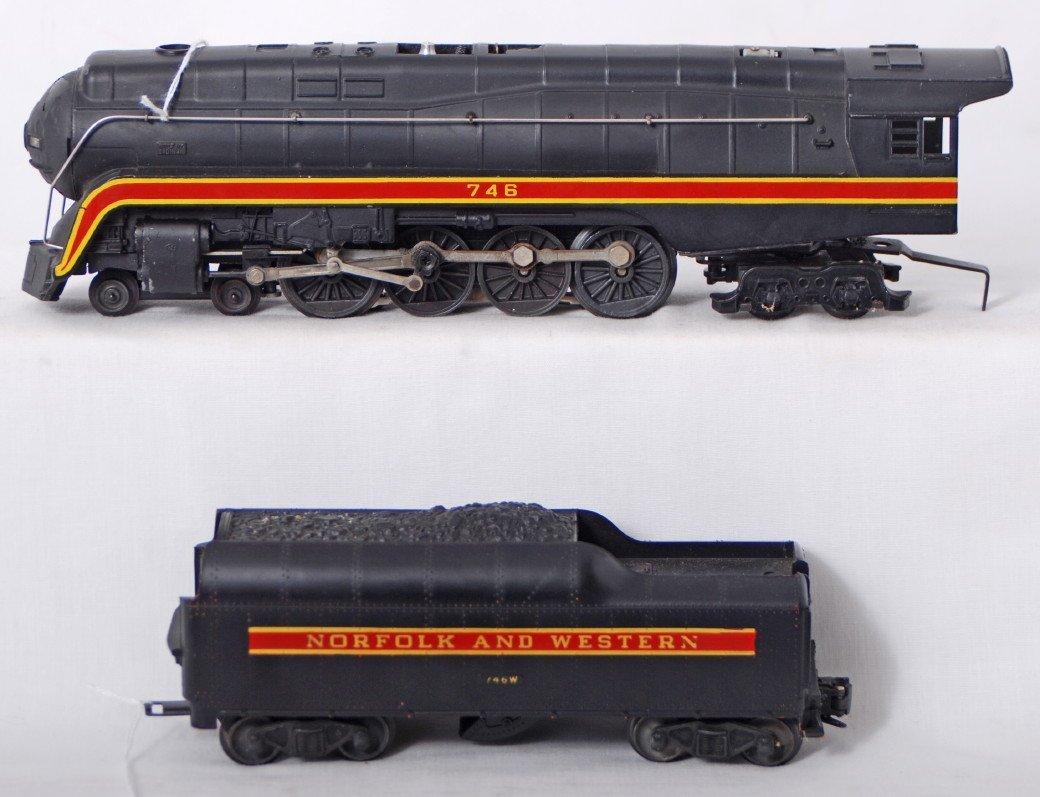 842: Lionel 746LT Norfolk and Western, w/short stripe
