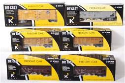 1113 6 K Line die cast freight cars UP ATSF etc