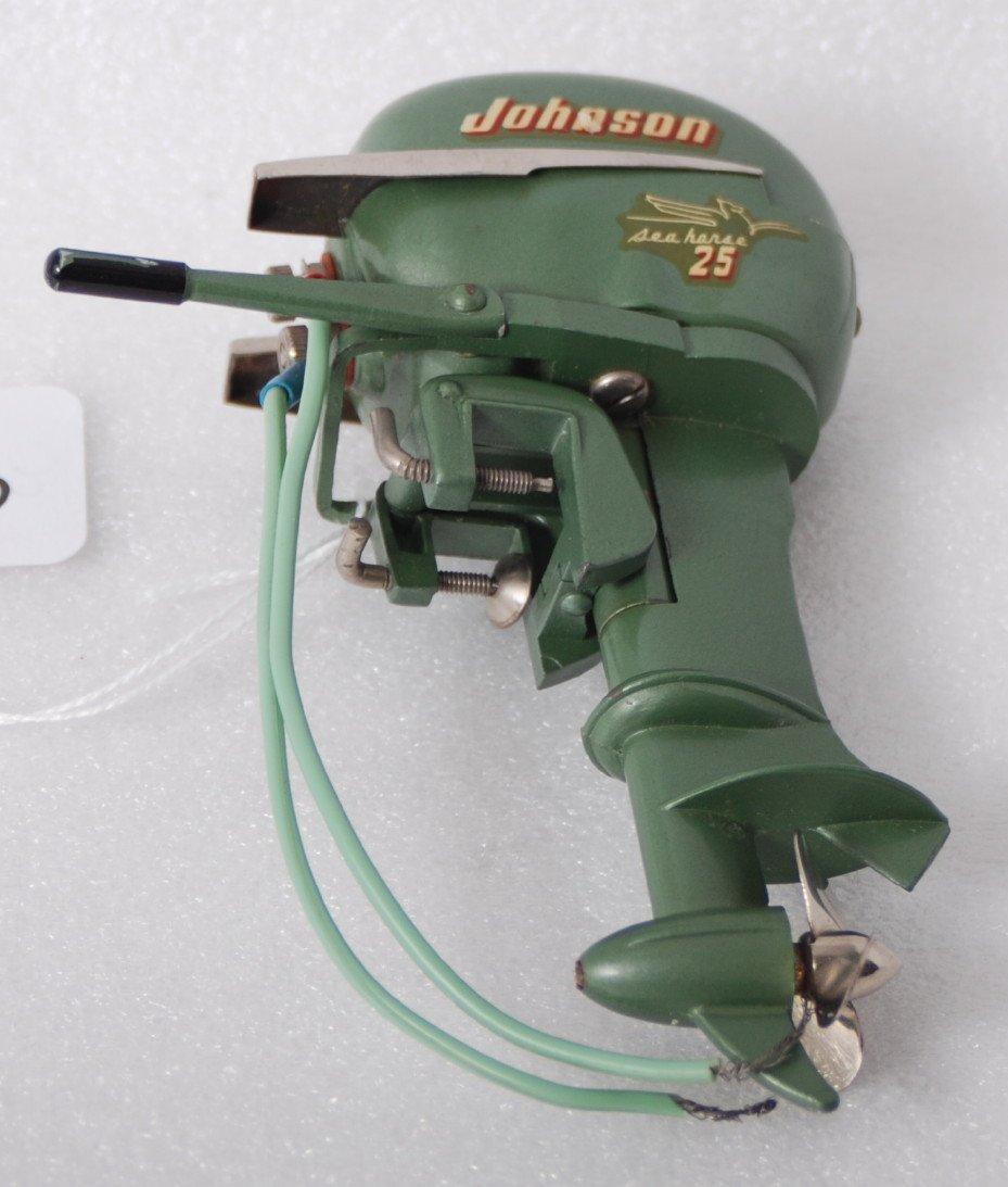 1363: Johnson Sea Horse 25 battery operated boat motor
