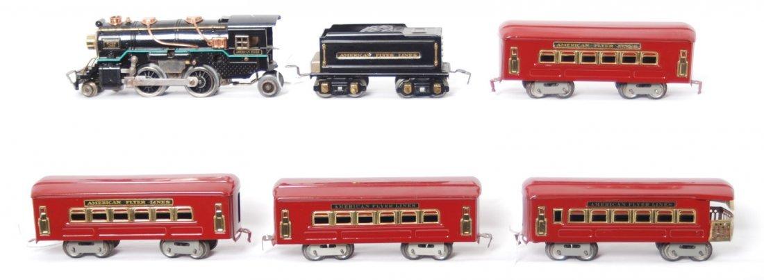 1: American Flyer O ga. steam loco and passenger cars