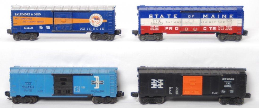 2: Lionel 6464-425, -400, -475, -275 boxcars