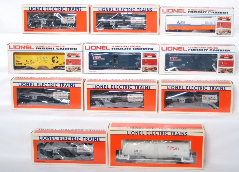 14: 11 LCCA freight cars 6323 17899, 9016, 7403, etc
