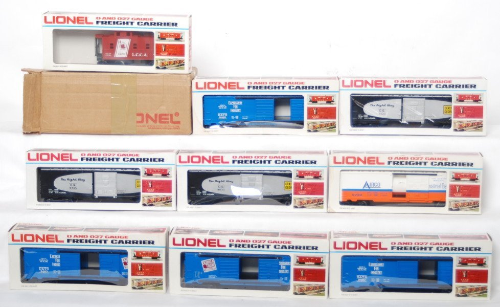 16: 10 LCCA freight cars 9460, 9435, 9733, etc