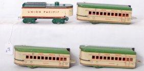 Three Marx O Gauge U.P. Denver Passenger Cars