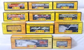 11 MTH Railking Freight Cars