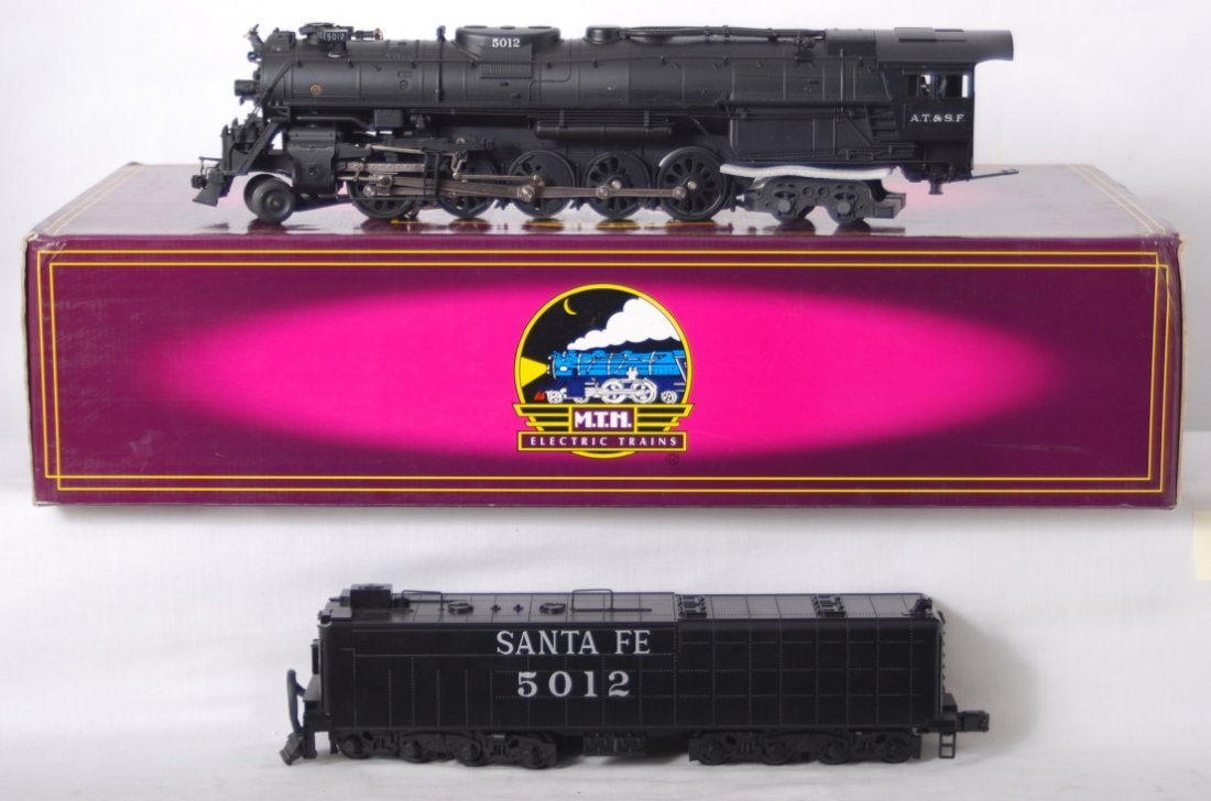 109: MTH Santa Fe 2-10-4 steam locomotive with Proto 2