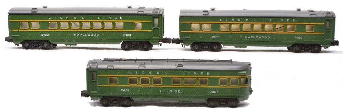 5: Lionel Green/Gray Passenger Cars 2400 2400 2401