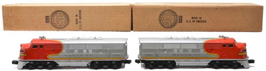 8: Lionel 2383P/T Santa Fe F3 AA Diesel Units OBs
