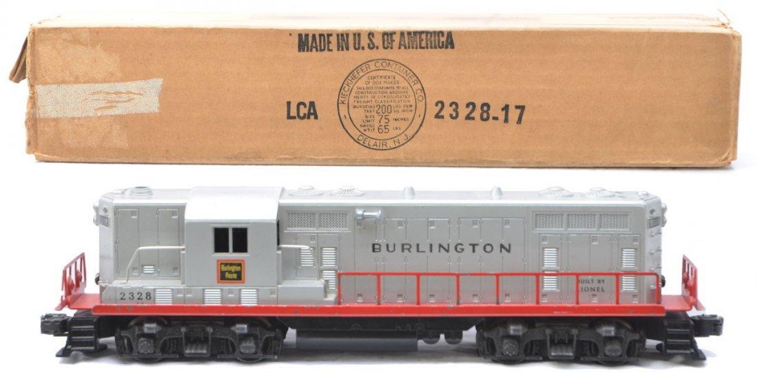 12: Lionel 2328 Burlington GP7 Diesel Boxed