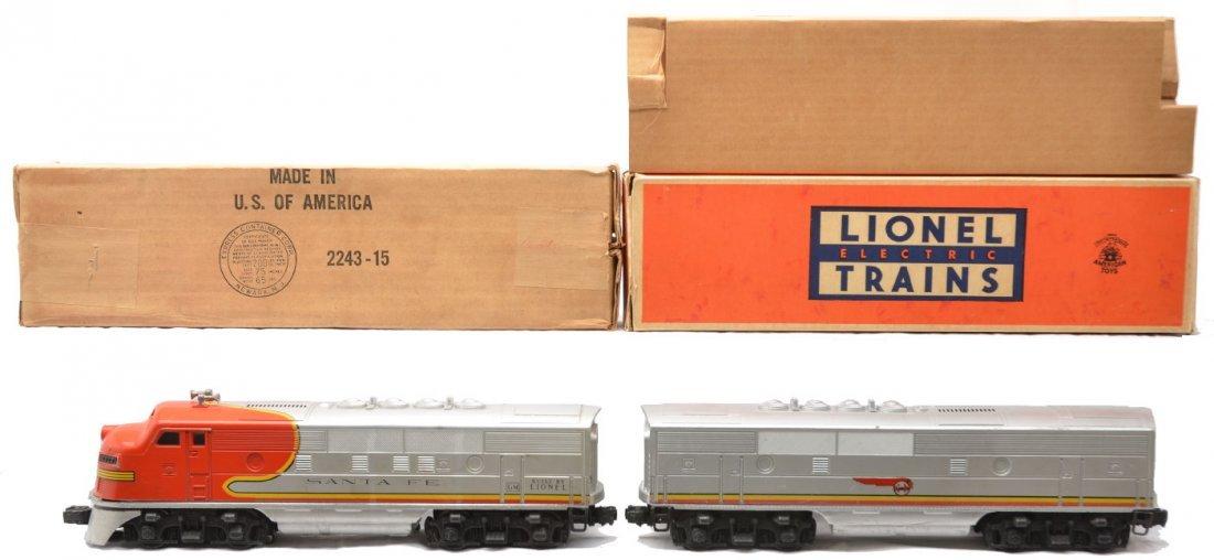 14: Lionel 2243P/C Santa Fe F3 AB Diesel Units OBs