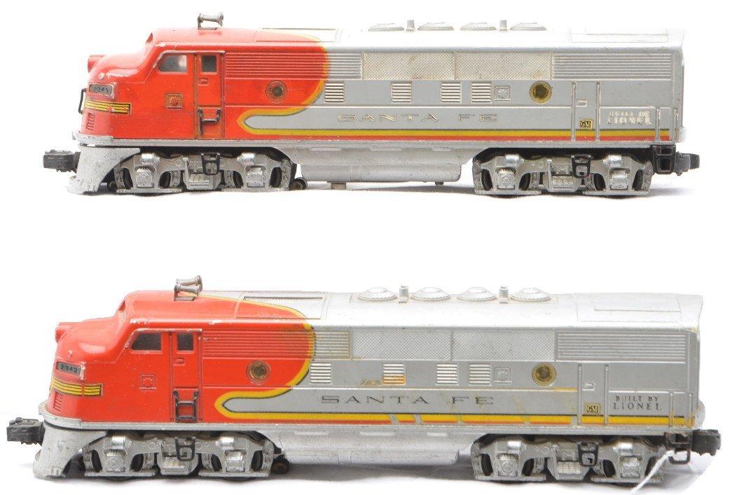 21: Lionel 2343 Santa Fe F3 AA Diesel Units