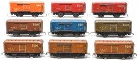 Marx 90141 4-Brown 2-Red 1-Orange 1-Blue 1-Olive