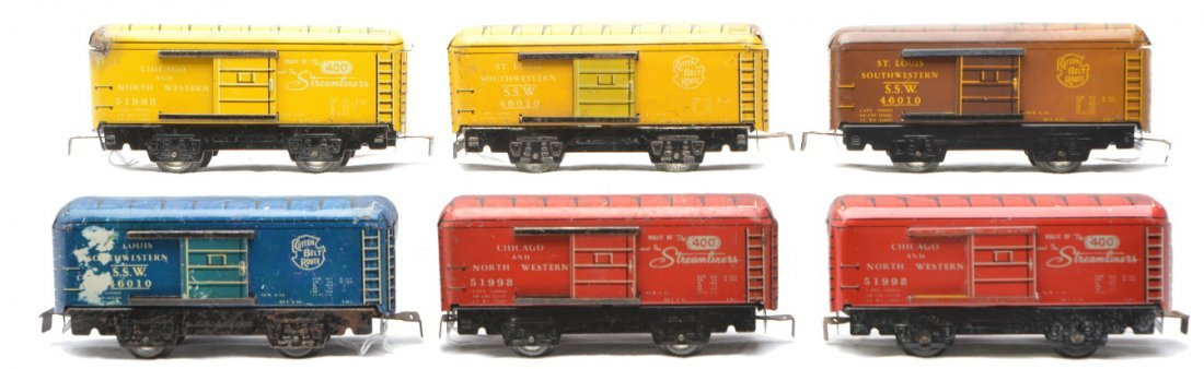 49: Marx Litho 3 51998 C&NW 3 SSW Boxcars