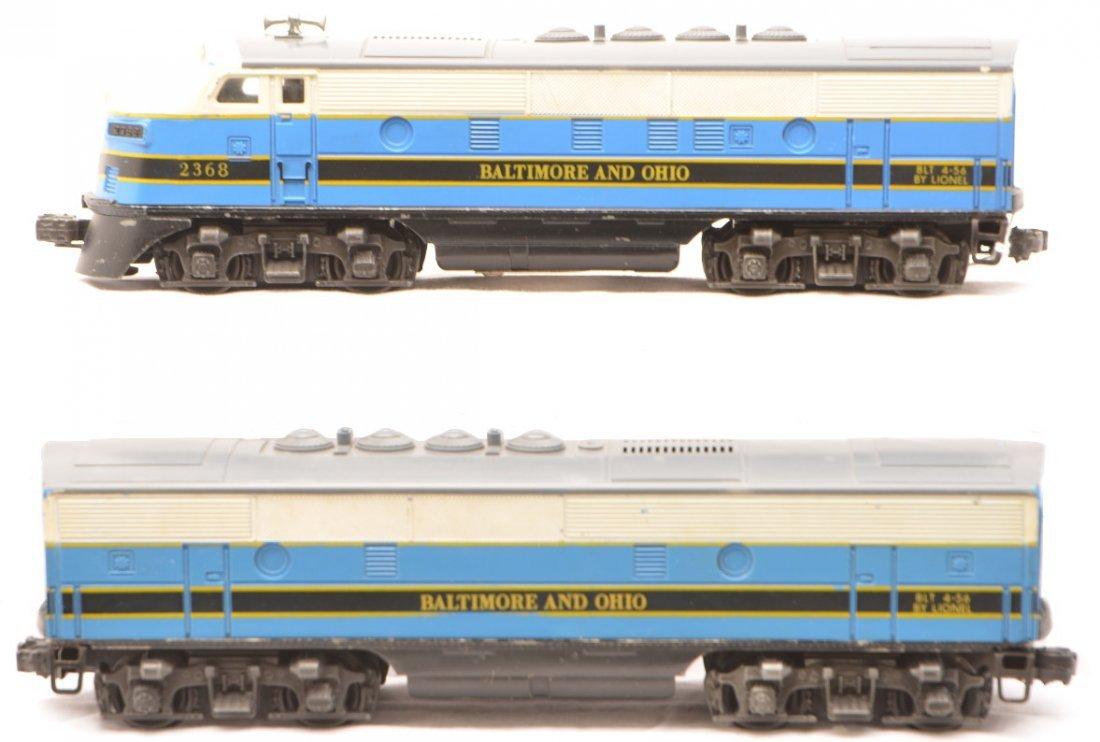 52: Lionel Postwar 2368 B&O F3 AB Diesel Units