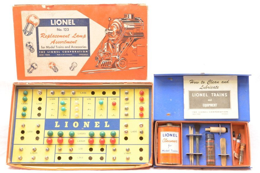 53: Lionel 123 Replacement Lamp Asst. 927 Lube Kit