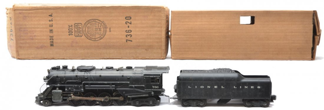 54: Lionel 736 Berkshire Loco OB 2046W Tender