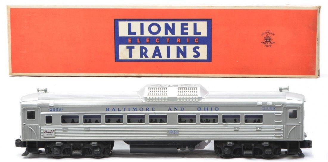 61: Lionel 2559 B&O Bud RDC-9 Pass Car LN OB