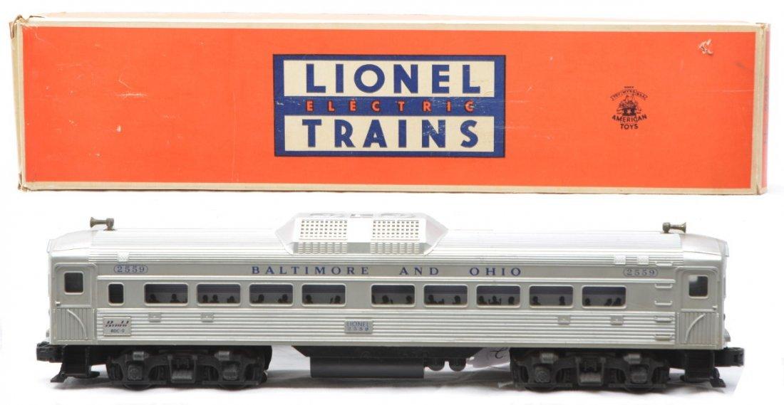 62: Lionel 2559 B&O Bud RDC-9 Pass Car OB