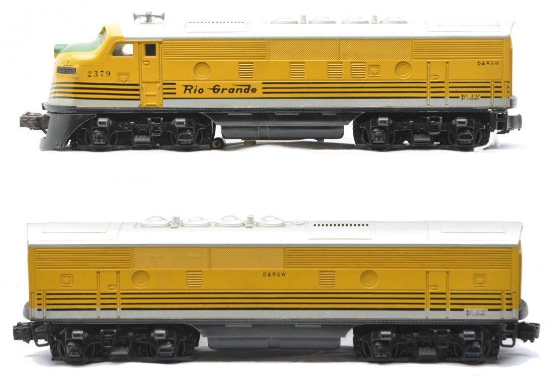 63: Lionel 2379 Rio Grande F3 AB Diesel Units
