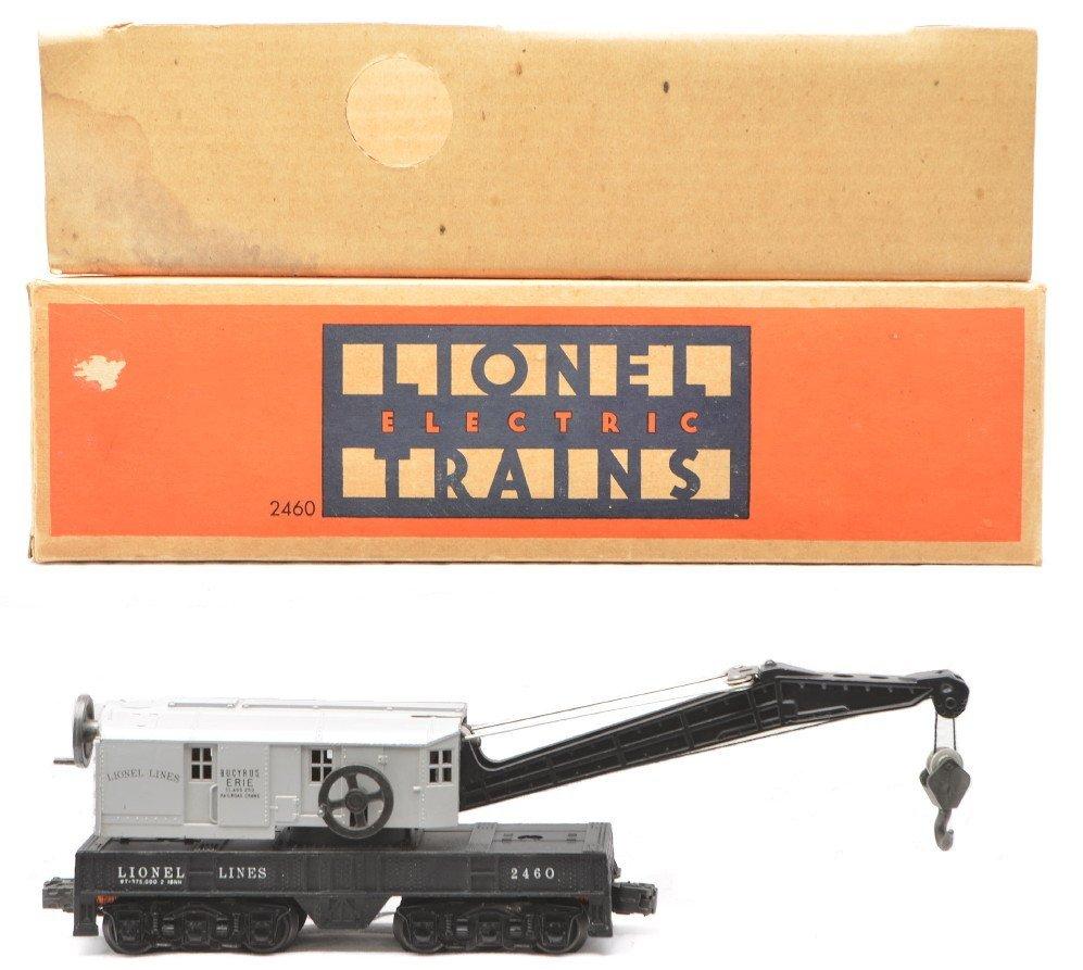 65: Lionel 2460 Work Crane w/Gray Cab LN OB